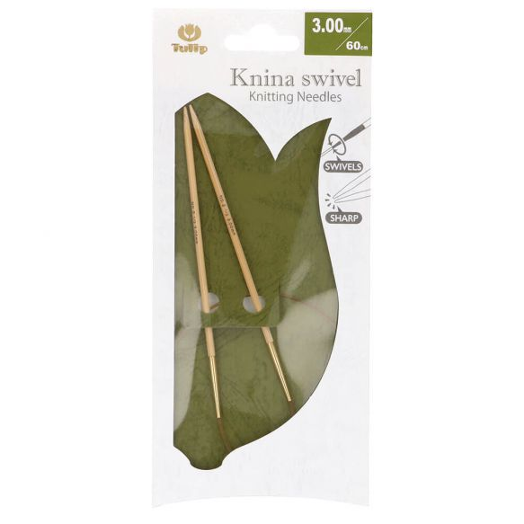 Kim Đan Vòng Tulip Knina Swivel Knitting Needles 60cm