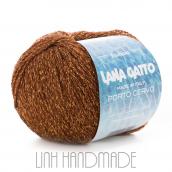 Cuộn len sợi cotton bóng pha kim tuyến Lana Gatto Porto Cervo