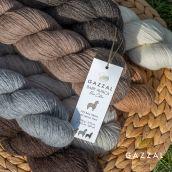Cuộn len sợi lông cừu Merino pha lạc đà Alpaca màu tự nhiên không nhuộm Gazzal Baby Alpaca Pure Color