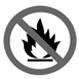 tránh tiếp xúc lửa